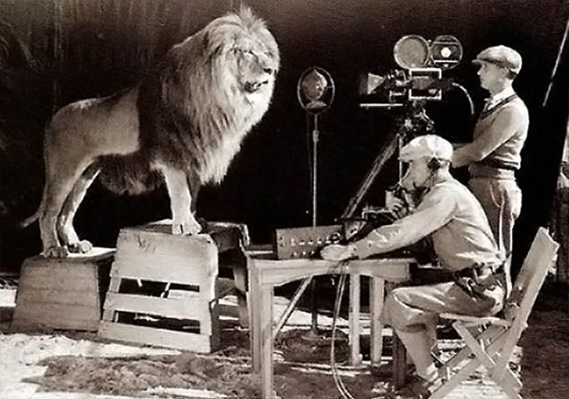 Filming Leo back in 1924