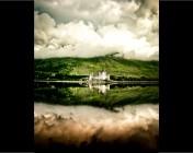 On Location Scotland - castle reflection in bonny Scotland