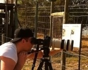 Andrew filming the lions