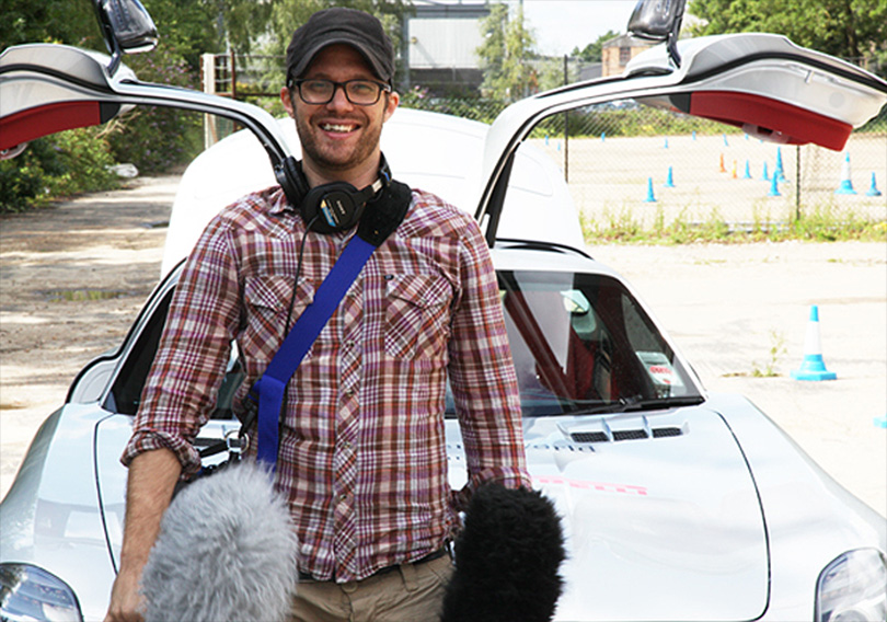 Peter in Top Gear happy place!