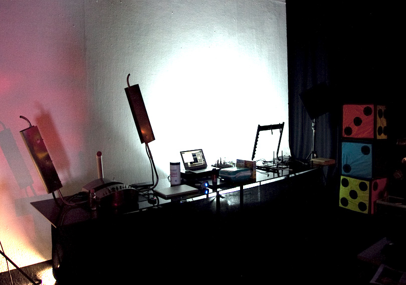 Laser Harp at home in Radiumphonic Lab
