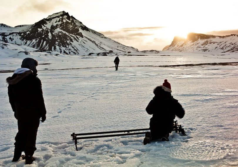 On Location Iceland - Sean with team shooting Iceland